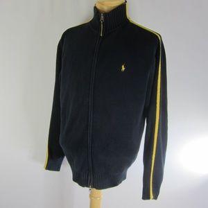 Vintage Polo Ralph Lauren Navy Mens L Zip Sweater